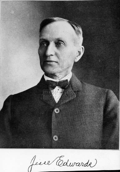 Jesse Edwards. Photo courtesy of the Oregon Historical Society.