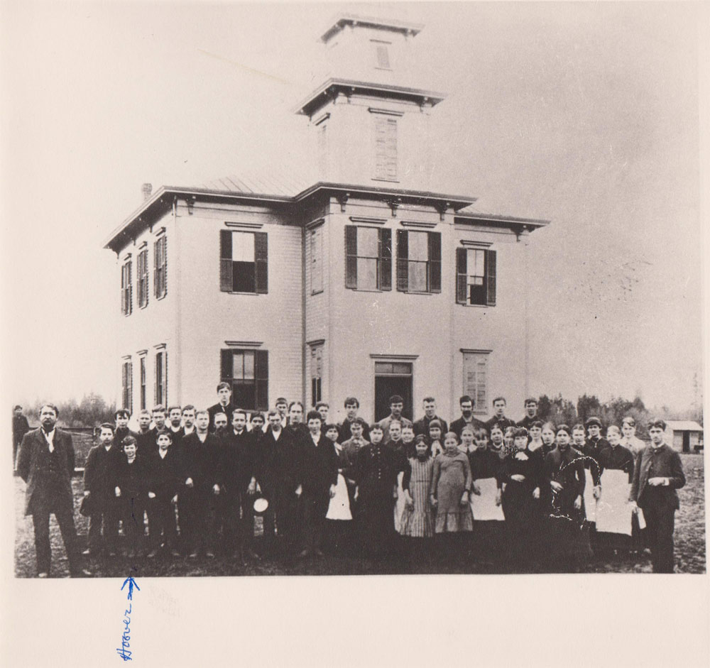 Friends Pacific Academy 1887. Hoover-Minthorn House Museum collection.