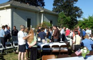 The Museum served breakfast to the Chamber of Commerce on the Little House lawn