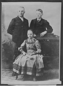 Theodore, Herbert and Mary Hoover in Salem, OR in 1889